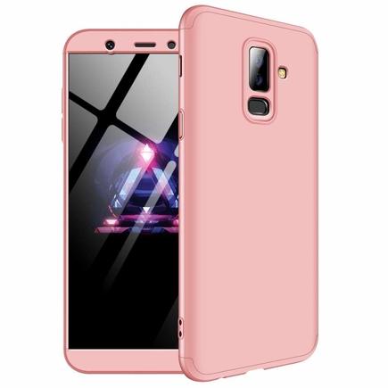 360 Protection pouzdro na přední i zadní část telefonu Samsung Galaxy A6 Plus 2018 A605 růžové