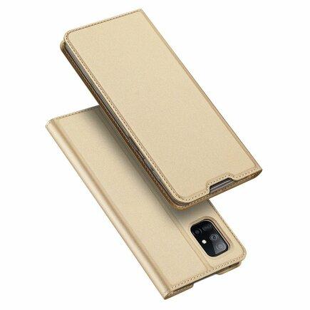 DUX DUCIS Skin Pro pouzdro s klapkou Samsung Galaxy A71 5G zlaté