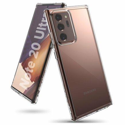 Fusion pouzdro s gelovým rámem Samsung Galaxy Note 20 Ultra průsvitné (FSSG0082)