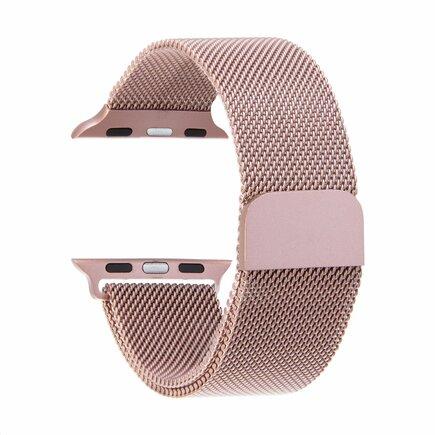 Loop Magnetický Kovový Pásek růžově-zlatý pro iWatch 4 44mm (EU Blister)