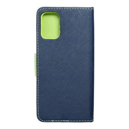 Pouzdro Fancy Book LG K52 tmavě modré/limetkové