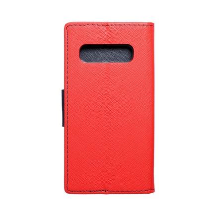 Pouzdro Fancy Book Samsung A20s červené/tmavě modré