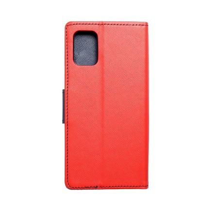 Pouzdro Fancy Book Samsung A71 červené/tmavě modré