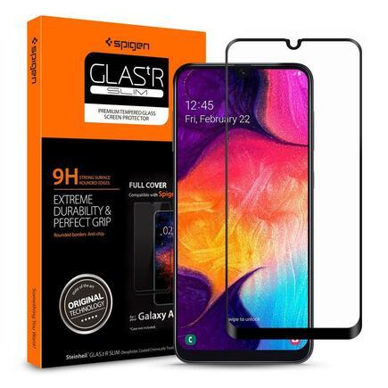 Tvrzené sklo Glass FC Galaxy A50 / Galaxy M21 černé