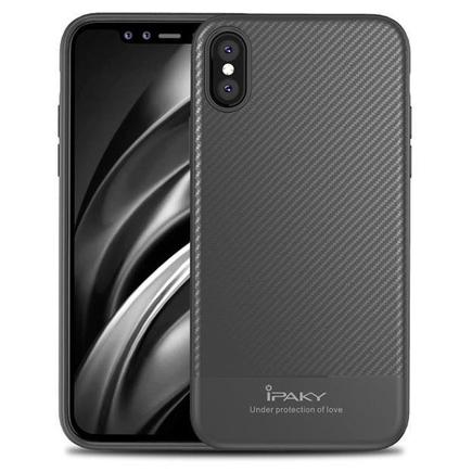 Carbon Fiber elastické pouzdro iPhone X šedé