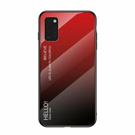 Gradient Glass pouzdro z tvrzeného skla Samsung Galaxy A41 černo/červené
