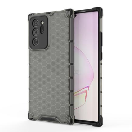 Honeycomb pancéřové pouzdro s gelovým rámem Samsung Galaxy Note 20 Ultra černé