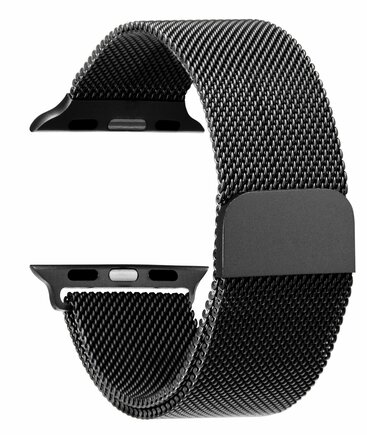 Loop Magnetický Kovový Pásek černý pro iWatch 1/2/3 38mm (EU Blister)