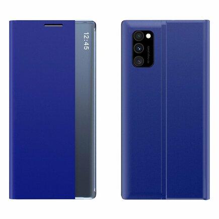 New Sleep Case pouzdro s klapkou s funkcí podstavce Samsung Galaxy A71 modré
