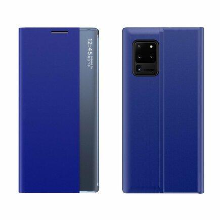 New Sleep Case pouzdro s klapkou s funkcí podstavce Samsung Galaxy M51 modré