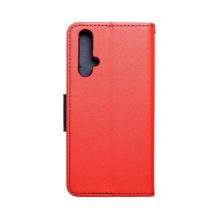Pouzdro Fancy Book Huawei Nova 5T červené/tmavě modré