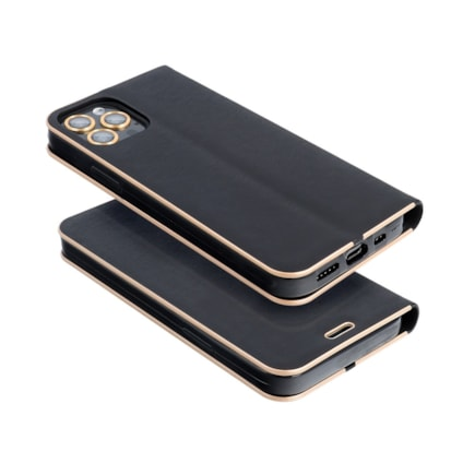 Pouzdro Forcell Luna Book Gold iPhone 13 černé