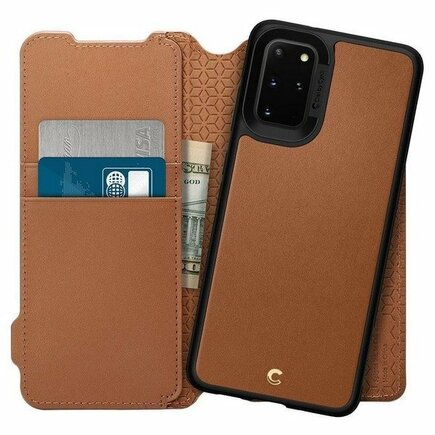 Pouzdro Wallet Brick Galaxy S20+ Plus hnědé
