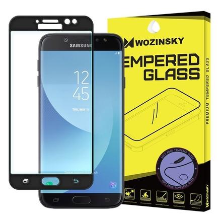 Tvrzené sklo přes celý displej s gelovým rámem Samsung Galaxy J7 2017 J730 černé