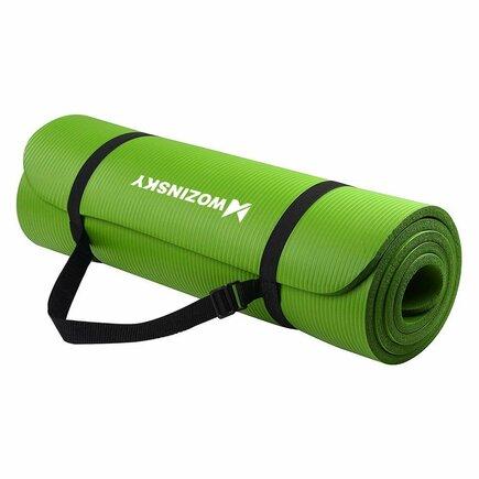 Wozinsky Podložka na cvičení 181 cm x 63 cm x 1 cm joga pilates zelená (WNSP-GREE)