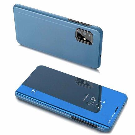 Clear View Case pouzdro s klapkou Samsung Galaxy A20s modré