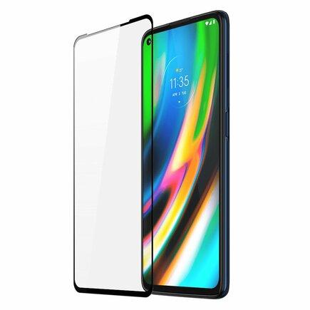 Dux Ducis 9D Tempered Glass odolné tvrzené sklo 9H na celý displej s rámem Motorola Moto G9 Plus černé (case friendly)