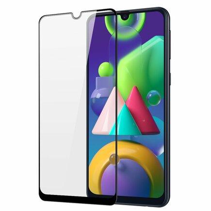 Dux Ducis 9D Tempered Glass odolné tvrzené sklo 9H na celý displej s rámem Samsung Galaxy M30s černé (case friendly)