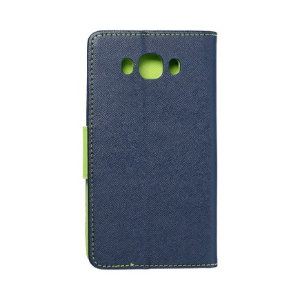 Pouzdro Fancy Book Samsung Galaxy J7 2016 tmavě modré/limetkové