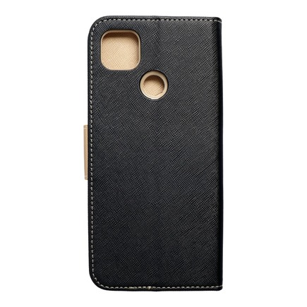 Pouzdro Fancy Book Xiaomi Redmi 9C černé/zlaté