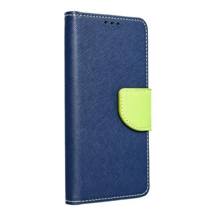 Pouzdro Fancy Book iPhone 13 Pro Max tmavě modré/limetkové