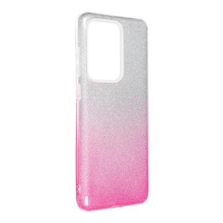 Pouzdro Shining Samsung Galaxy S20 Ultra / S11 Plus průsvitné/růžové