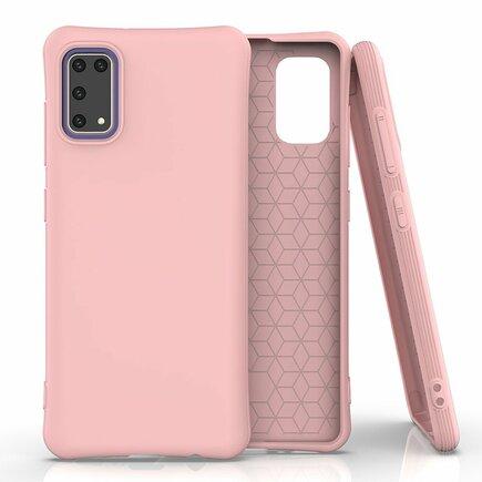 Soft Color Case elastické gelové pouzdro Samsung Galaxy A41 růžové