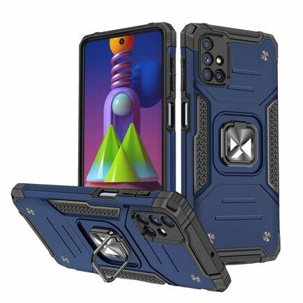 Wozinsky Ring Armor pancéřové hybridní pouzdro + magnetický úchyt Samsung Galaxy M51 modré