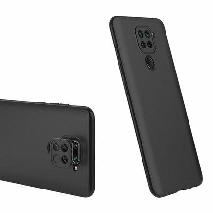 360 Protection Case pouzdro na přední i zadní část telefonu Xiaomi Redmi 10X 4G / Xiaomi Redmi Note 9 černé