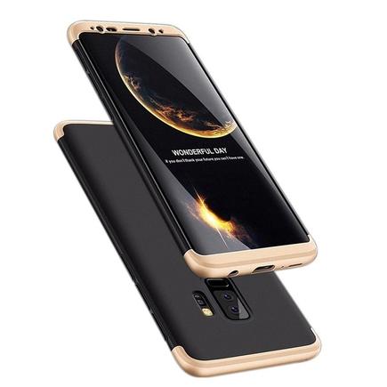 360 Protection pouzdro na přední i zadní část Samsung Galaxy S9 Plus G965 černo-zlaté