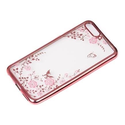 Bloomy Case designové gelové pouzdro Huawei Y6 2018 růžové
