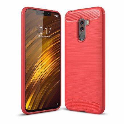 Carbon Case elastické pouzdro Xiaomi Pocophone F1 červené