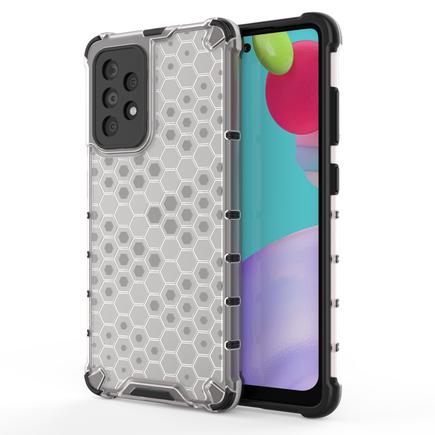 Honeycomb pancéřové pouzdro s gelovým rámem Samsung Galaxy A52 5G / A52 4G průsvitné