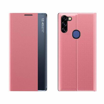 New Sleep Case pouzdro s klapkou s funkcí podstavce Samsung Galaxy A11 / M11 růžové