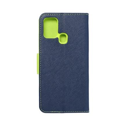 Pouzdro Fancy Book Samsung M31 tmavě modré/limetkové