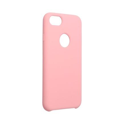 Pouzdro Silicone iPhone 6 / 6S pudrově růžové s otvorem pro logo