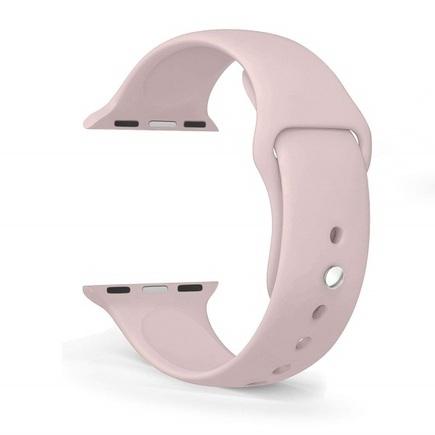 Silikonový Pásek růžový pro iWatch 4 40mm (EU Blister)