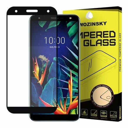 Super odolné tvrzené sklo Full Glue na celý displej s rámem Case Friendly LG K40 X420 černé