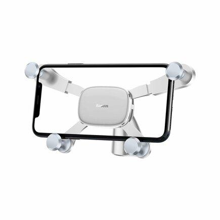 Vodorovný gravitační držák do auta na palubní desku bílý (SUYL-HP02)