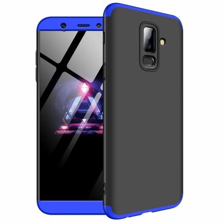 360 Protection pouzdro na přední i zadní část telefonu Samsung Galaxy A6 Plus 2018 A605 černo-modré