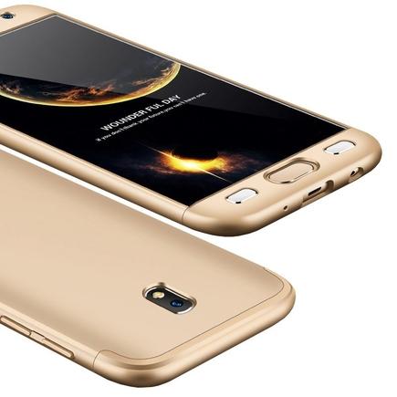 360 Protection pouzdro na přední i zadní část telefonu Samsung Galaxy J3 2017 J330 zlaté