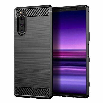 Carbon Case elastické pouzdro Sony Xperia 5 černé