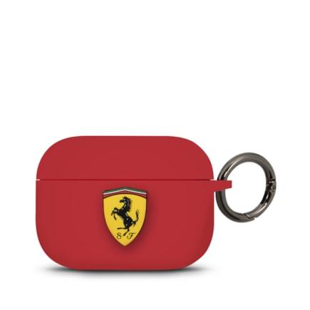 Ferrari Silikonové Pouzdro pro Airpods Pro červené (EU Blister)