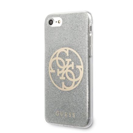 Glitter 4G Circle Pouzdro pro iPhone 8 / SE 2020 světle šedé