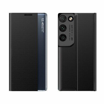 New Sleep Case pouzdro s klapkou s funkcí podstavce Samsung Galaxy S21 Ultra 5G černé
