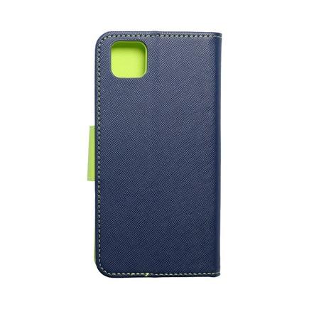 Pouzdro Fancy Book Huawei Y5P tmavě modré/limetkové