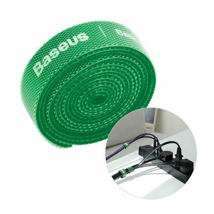 Rainbow Circle Velcro Straps - páska na suchý zip pro organizaci kabelů 1m zelená(ACMGT-E06)