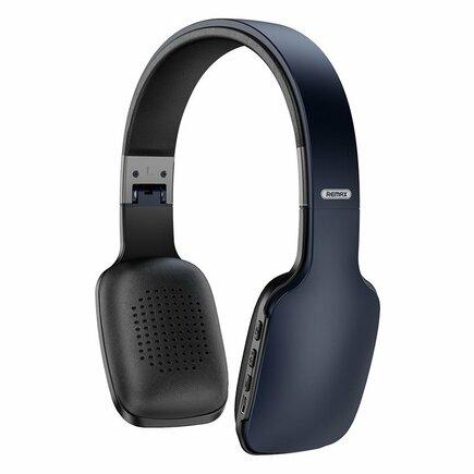 Remax bezdrátová sluchátka na uši Bluetooth 5.0 300 mAh černo/šedá