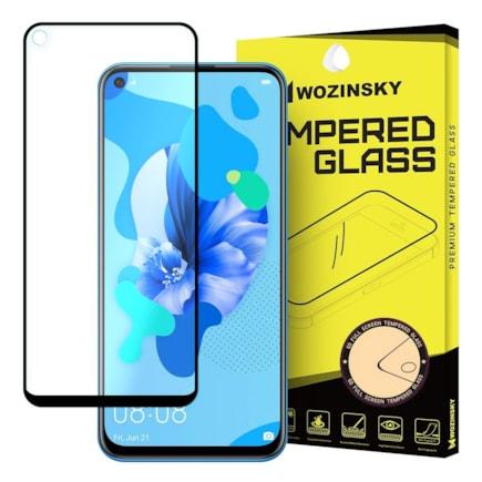 Super odolné tvrzené sklo Full Glue na celý displej s rámem Case Friendly Huawei P20 Lite 2019 / Huawei Nova 5i černé
