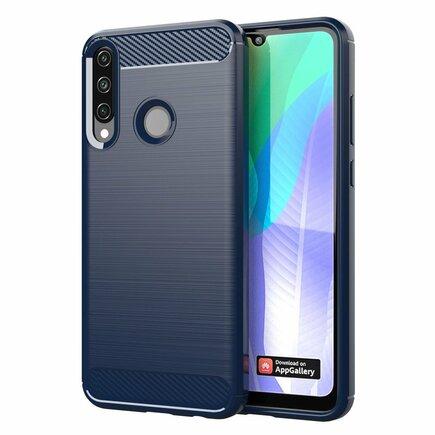 Carbon Case elastické pouzdro Huawei Y6p modré
